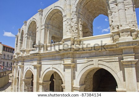Roman Arena in Arles, Provence, France