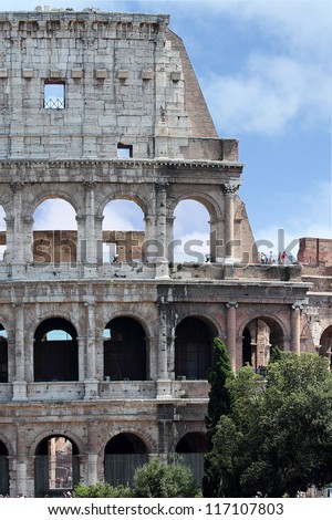 Roman attractionc, Colosseum in Rome, Italy