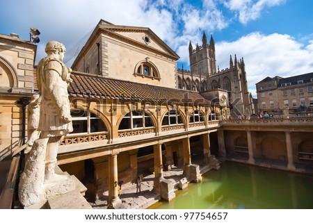 Roman baths, Bath, Somerset, UK Сток-фото ©