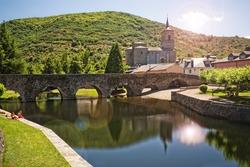 Roman bridge in Molinaseca, Leon, Spain
