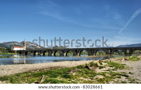 Roman bridge in Ponte de Lima, Portugal