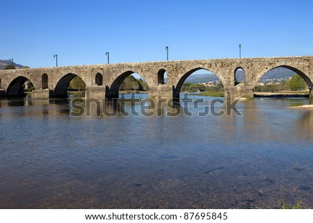 roman bridge of Ponte de Lima in Portugal