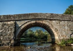 Roman bridge on the river