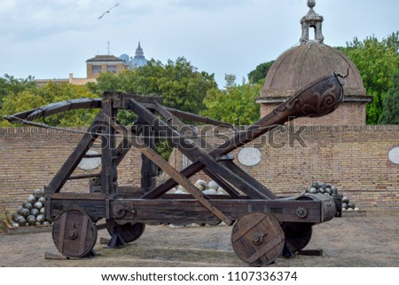 Roman catapult at Sant'Angelo Castle Italy