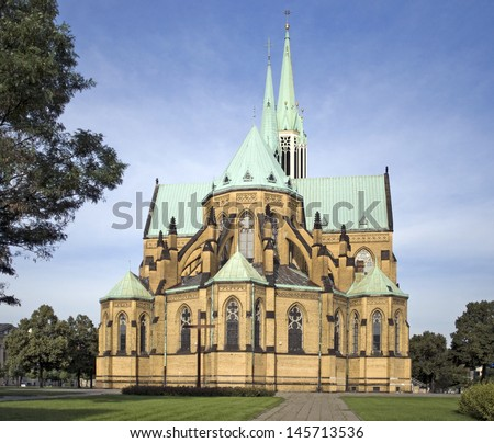 Roman Catholic Cathedral Basilica of St. Stanislaus Kostka in Lodz, Poland