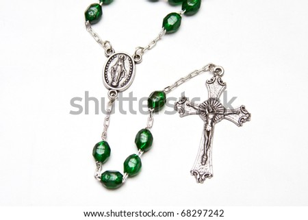 Roman Catholic Rosary beads used for praying