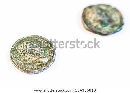 Roman coins  Old coins  Rare  Historical  They were used in the
