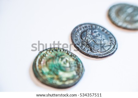 Roman coins  Old coins  Rare  Historical  Images and Stock Photos
