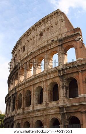 Roman Coliseum against the blue sky