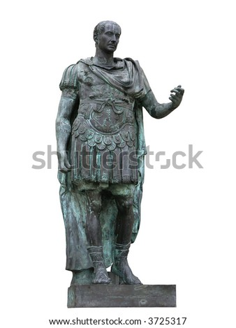 Roman emperor Julius Caesar statue - stock photo