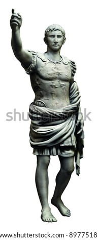 roman fighter person statue