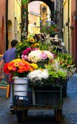 Roman flower cart