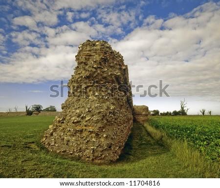 roman fort gariannonium burgh castle norfolk broads national park east anglia england uk europe