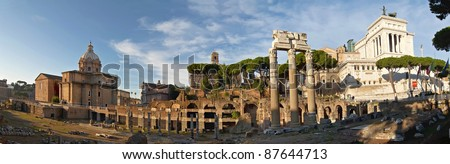 Roman Forum and the monument to Victor Emmanuel II