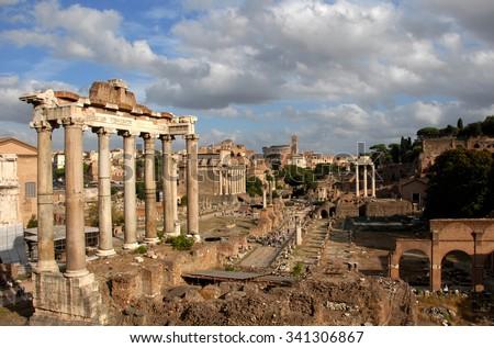 roman forum  the center of...