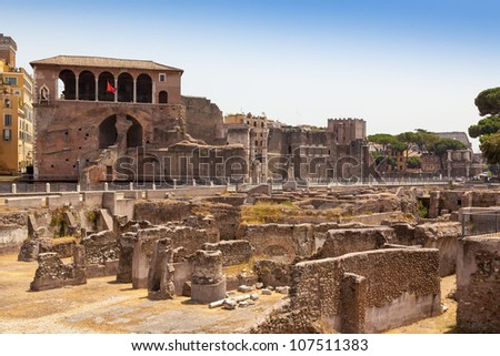 Roman Forum, Trajan's column in Rome