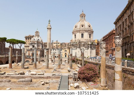 Roman Forum, Trajan's column in Rome