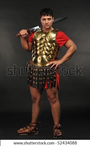 Roman legionary soldier