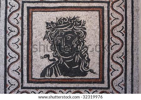 Roman mosaic with Medusa from Pompeii, Italy