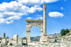Roman ruins in Sagalassos , Turkey.