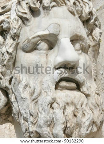 Roman sculpture. Statue of Nile. Piazza del Campidoglio. Rome. Italy. More Rome soon in my port.