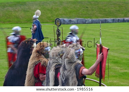 Roman Soldiers in Animal skins