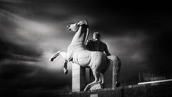 roman statue EUR ROME blackandwhite