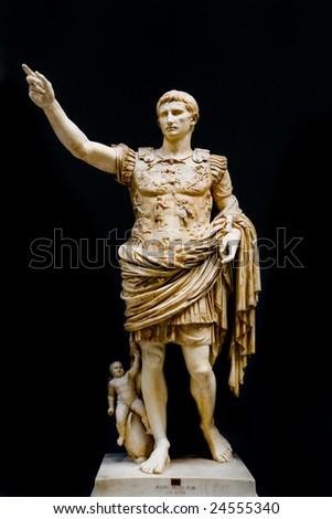 Roman statue of emperor Caesar Augustus