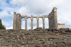 Roman Temple of Evora in Portugal / Diana temple