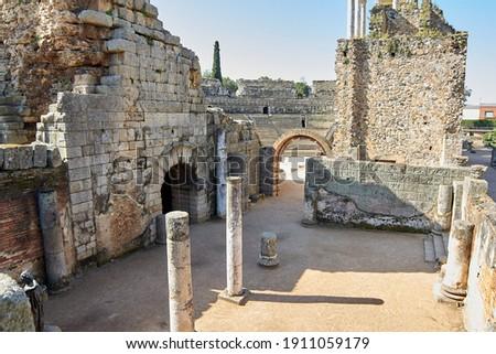 Roman Theater, Mérida, Extremadura (Spain) Foto stock ©