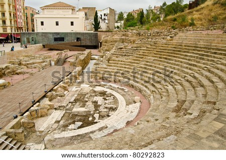 Roman Theatre in Malaga, Spain