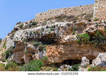 Roman tombs in the region of Bingemma in Malta.