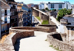 Roman wall of Lugo.Spain