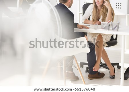 Romance in the workplace- close two colleagues relationship #661576048