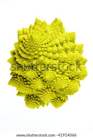 Romanesco (Brassicae oleracea) a member of the cauliflower family of vegetables