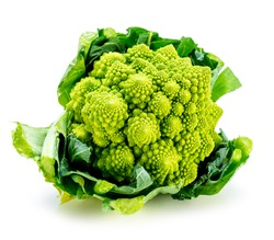 Romanesco broccoli vegetable represents a natural fractal pattern and is rich in vitimans.