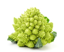 Romanesco cabbage on a white background. Isolated