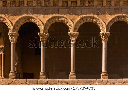 romanesque arch in segovia spain Foto d'archivio ©