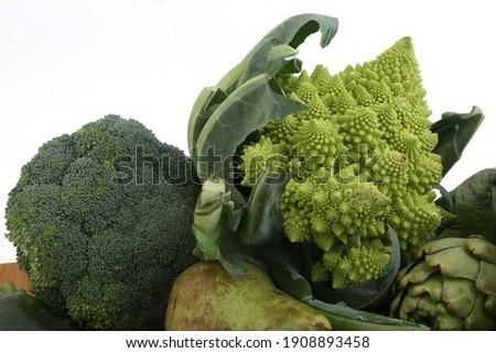 romanesque cauliflower green vegetable as vegan ingredient Foto d'archivio ©