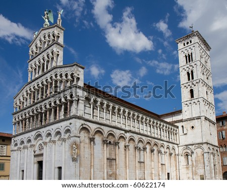 Romanesque church of San Michele in Foro, Lucca, Tuscany, Italy
