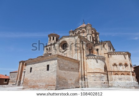 Romanesque church of Santa Maria Maggiore in Toro, Zamora, XII century medieval work - stock photo