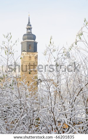 Romanesque Church of St. Mary and St. Georg (known in German as Klosterkirche Thalburgel); Burgel town, Turingia, Germany