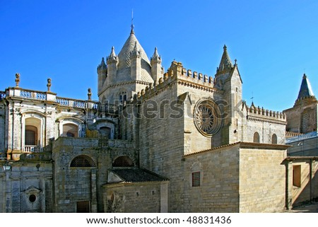 Romanesque-Gothic Se (Cathedral) of Evora, Portugal