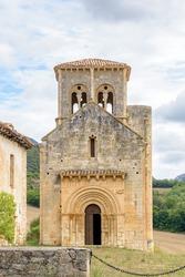 Romanesque hermitage of San Pedro de Tejada. Romanesque jewel in Spain located in the Valdivielso Valley, Burgos, Castilla y León, Spain