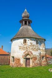 Romanesque round (rotonda) church from Geoagiu village, in Hunedoara county, Transylvania, Romania - oldest surving church in Romania, built between year 1000 and 1100