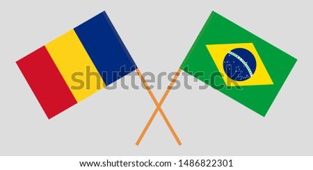 Romania and Brazil. The Romanian and Brazilian flags