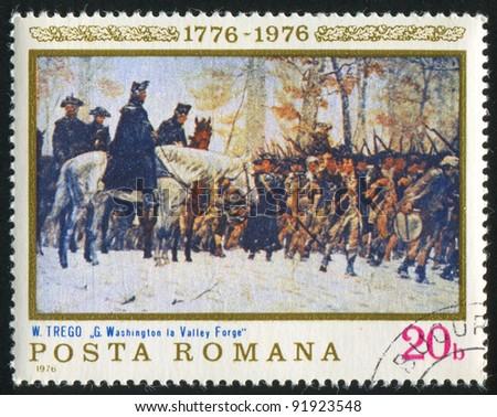 romania   circa 1976  a stamp...