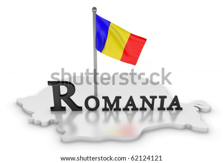 Romania Tribute/Digitally rendered scene with flag and typography