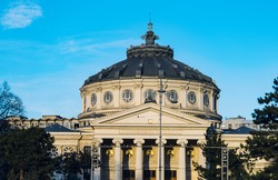 Romanian Athenaeum or Ateneul Roman, in the center of Bucharest capital of Romania