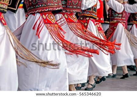 Shutterstock Romanian dancers in traditional costume, perform a folk dance.